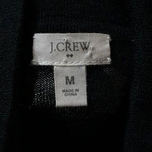 I Crew black wool LS dress M